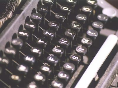 Selective focus photograph of a typewriter